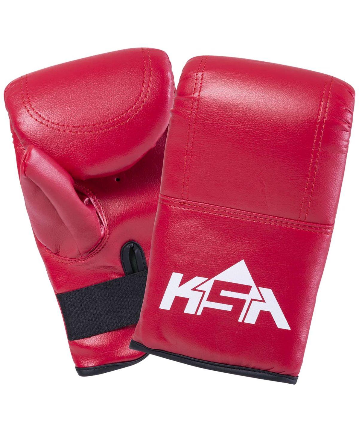 KSA Перчатки снарядные Bull, к/з 1784: красный - 2