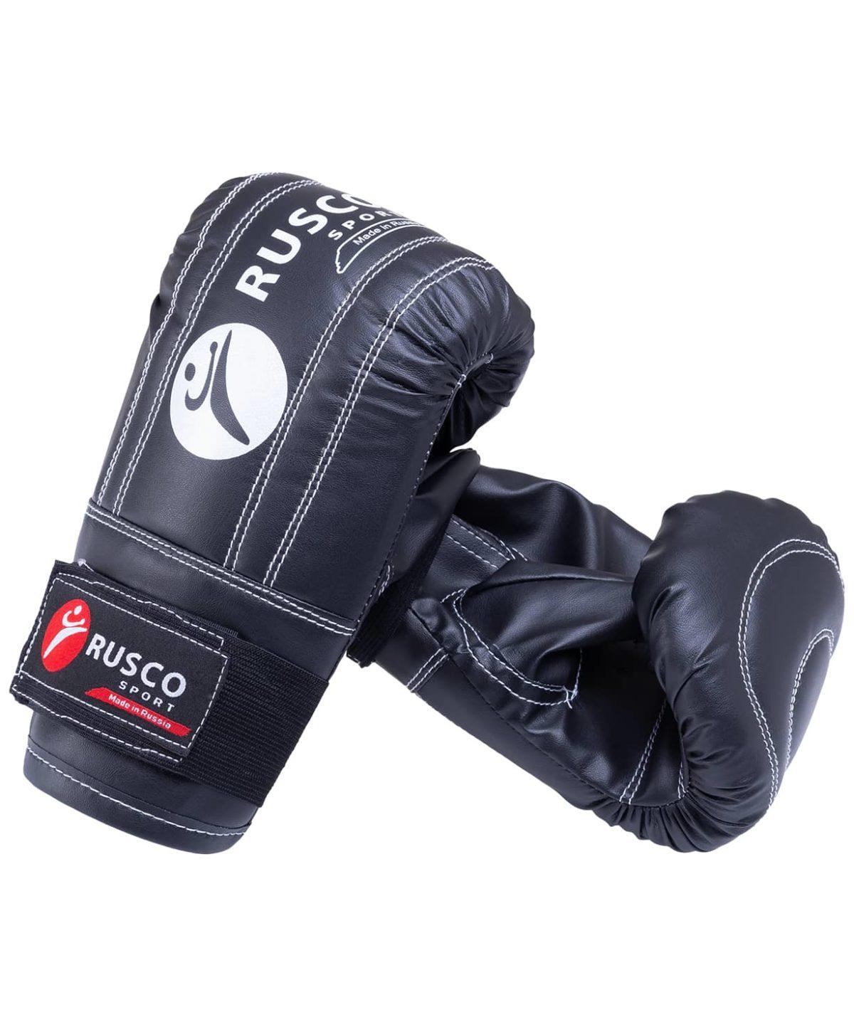 RUSCO Перчатки снарядные, кожзам 142: чёрный - 1