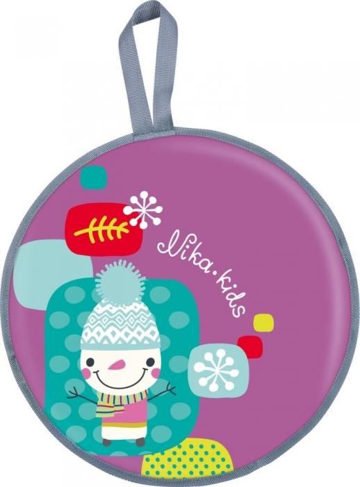 NIKA Ледянка мягкая 450 мм с рисунком ЛР45: снеговик - 1
