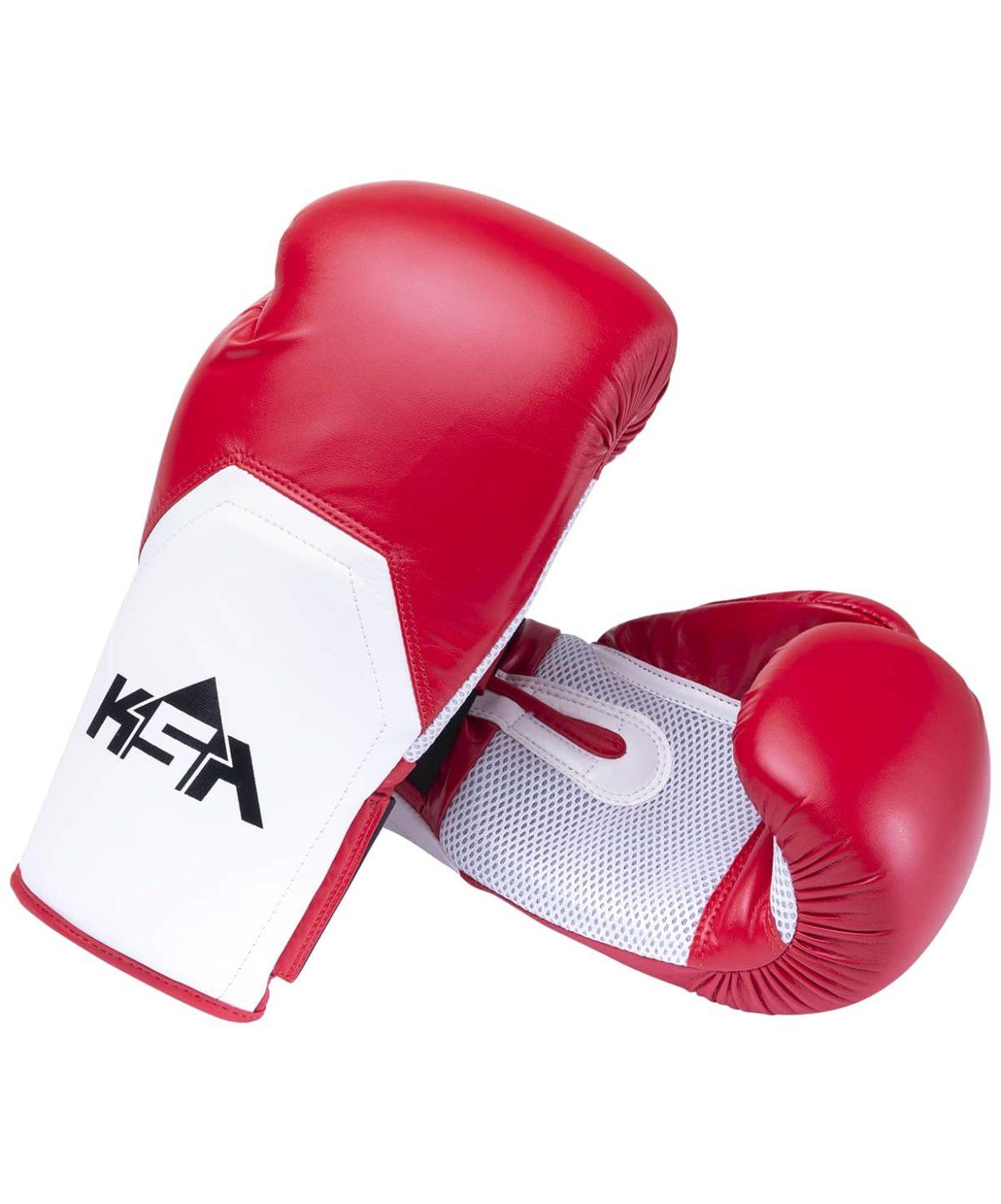 KSA Scorpio Red Перчатки боксерские, 8 oz, к/з 17823: красный - 1