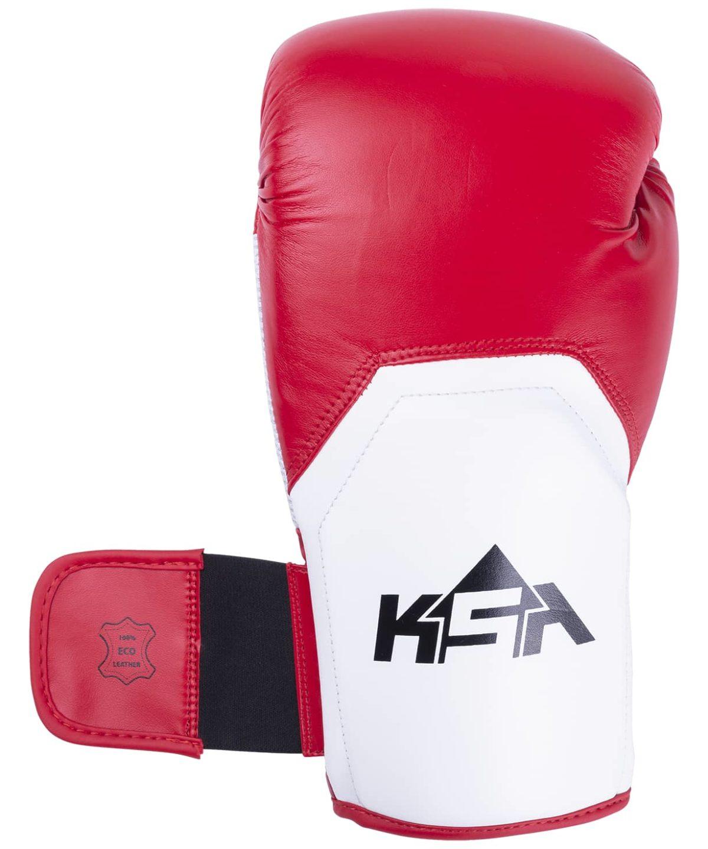 KSA Scorpio Red Перчатки боксерские, 8 oz, к/з 17823: красный - 2