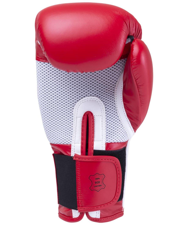 KSA Scorpio Red Перчатки боксерские, 8 oz, к/з 17823: красный - 3