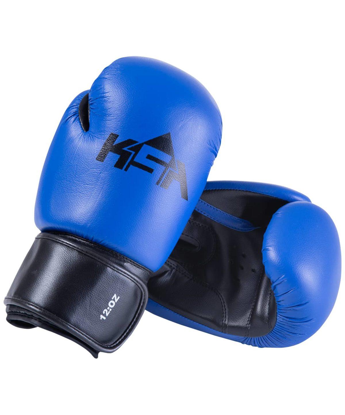 KSA Spider Blue Перчатки боксерские, 8 oz, к/з 17805: синий - 1