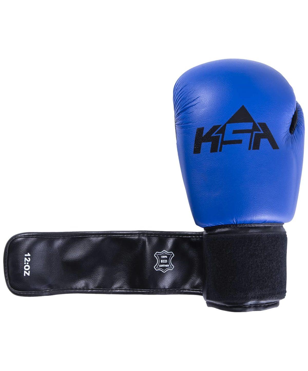 KSA Spider Blue Перчатки боксерские, 8 oz, к/з 17805: синий - 2