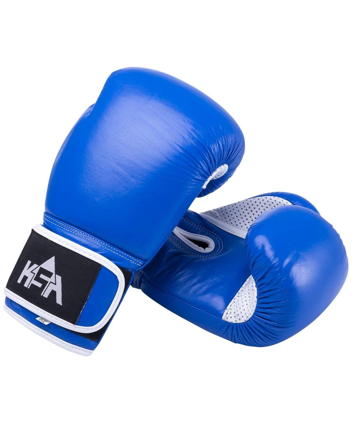 KSA Wolf Blue Перчатки боксерские, 10 oz, кожа 17830: синий - 1