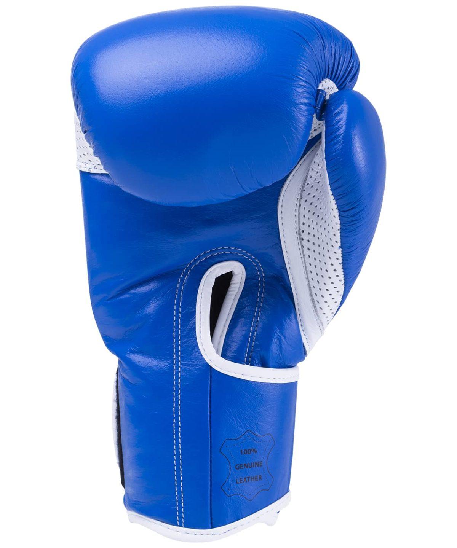 KSA Wolf Blue Перчатки боксерские, 10 oz, кожа 17830: синий - 2