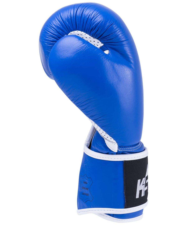KSA Wolf Blue Перчатки боксерские, 10 oz, кожа 17830: синий - 3