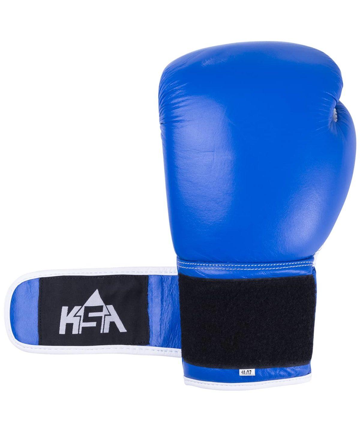KSA Wolf Blue Перчатки боксерские, 10 oz, кожа 17830: синий - 4