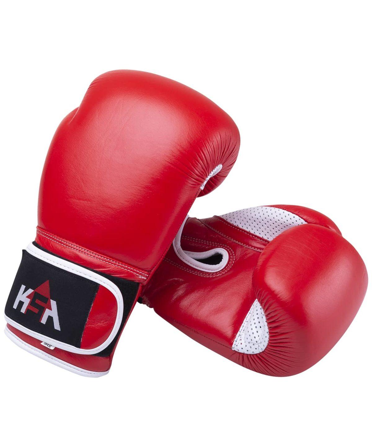 KSA Wolf Red Перчатки боксерские, 12 oz, кожа 17837: красный - 1