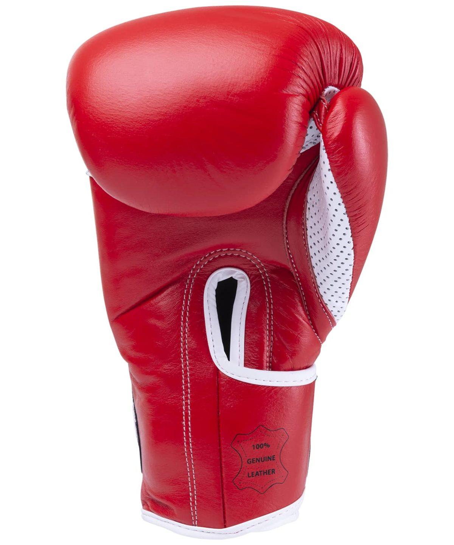 KSA Wolf Red Перчатки боксерские, 12 oz, кожа 17837: красный - 2