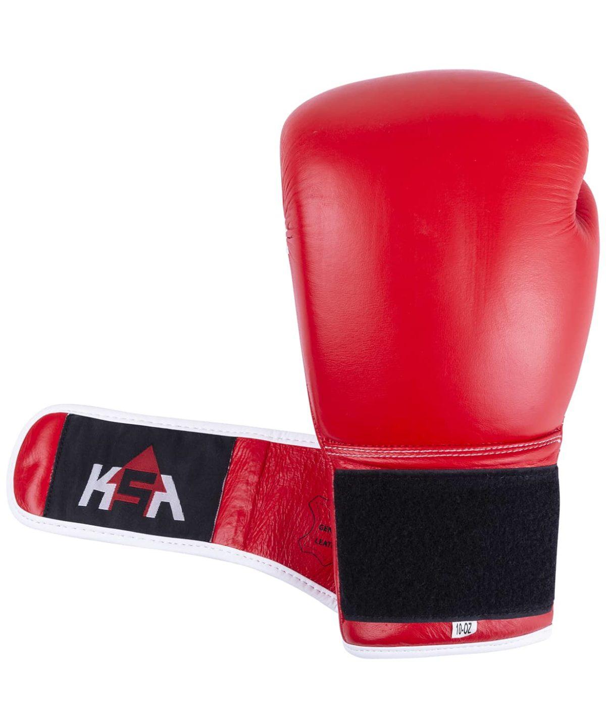 KSA Wolf Red Перчатки боксерские, 12 oz, кожа 17837: красный - 3