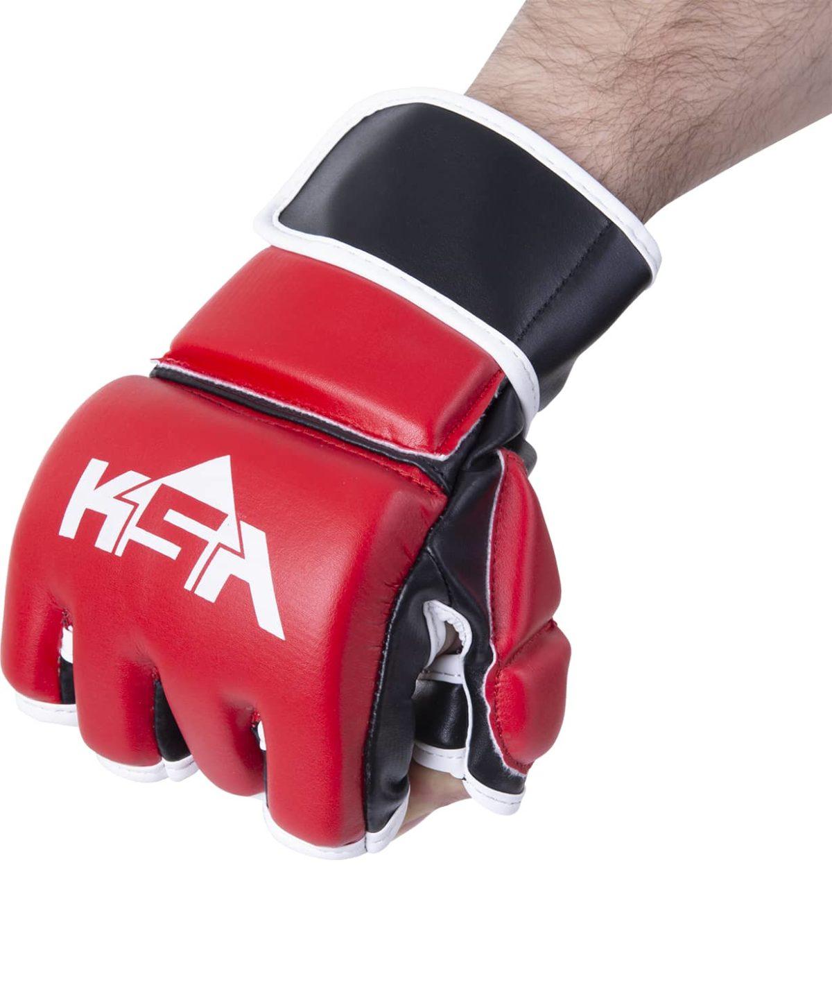 KSA Перчатки для ММА Wasp Red, к/з 7852 - 2