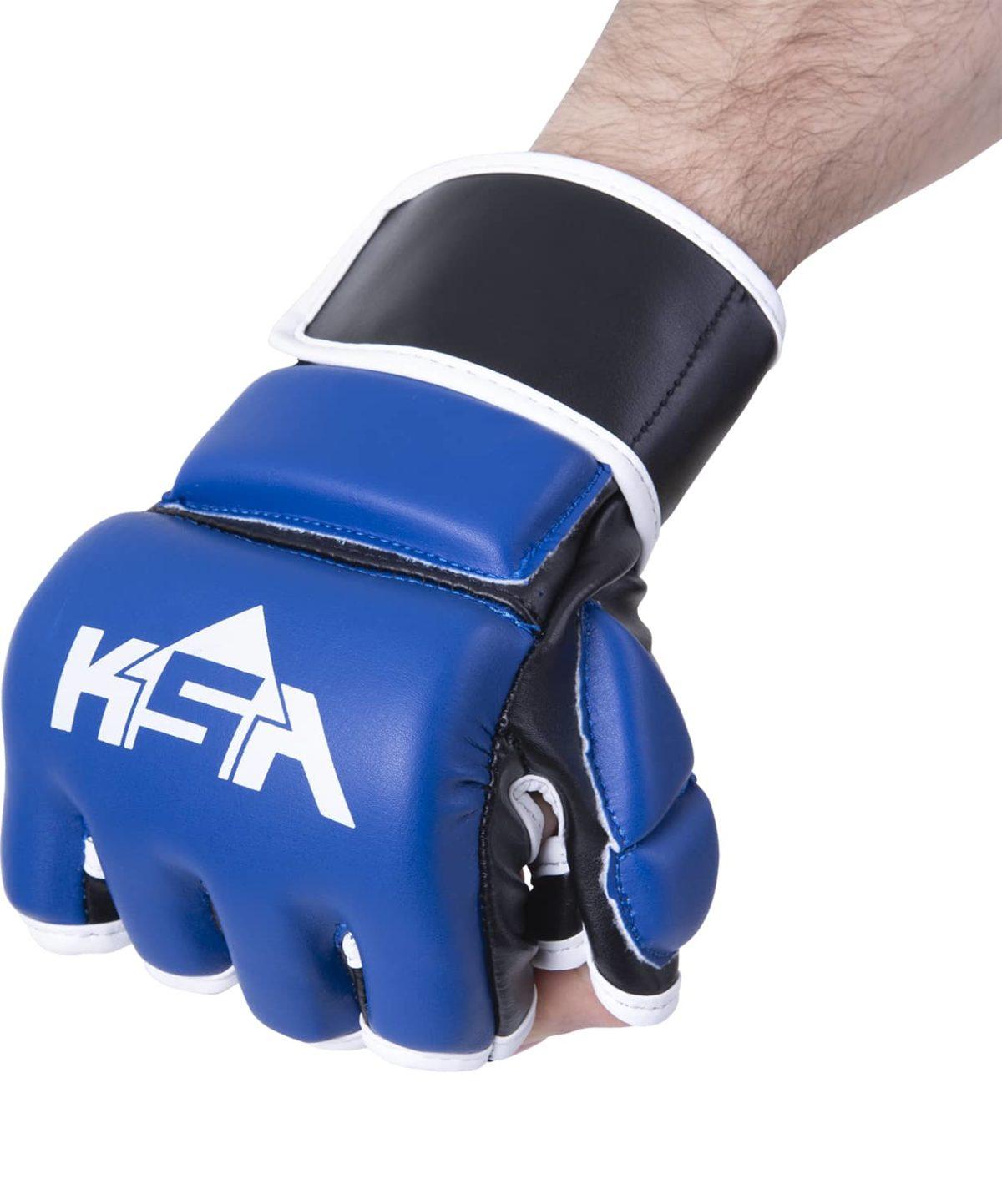 KSA Перчатки для ММА Wasp Blue, к/з 7850 - 2