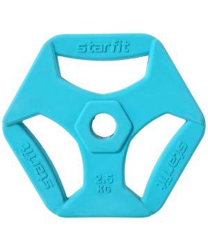 STARFIT Диск обрезиненный d=26мм, 2,5 кг  BB-205 - 14