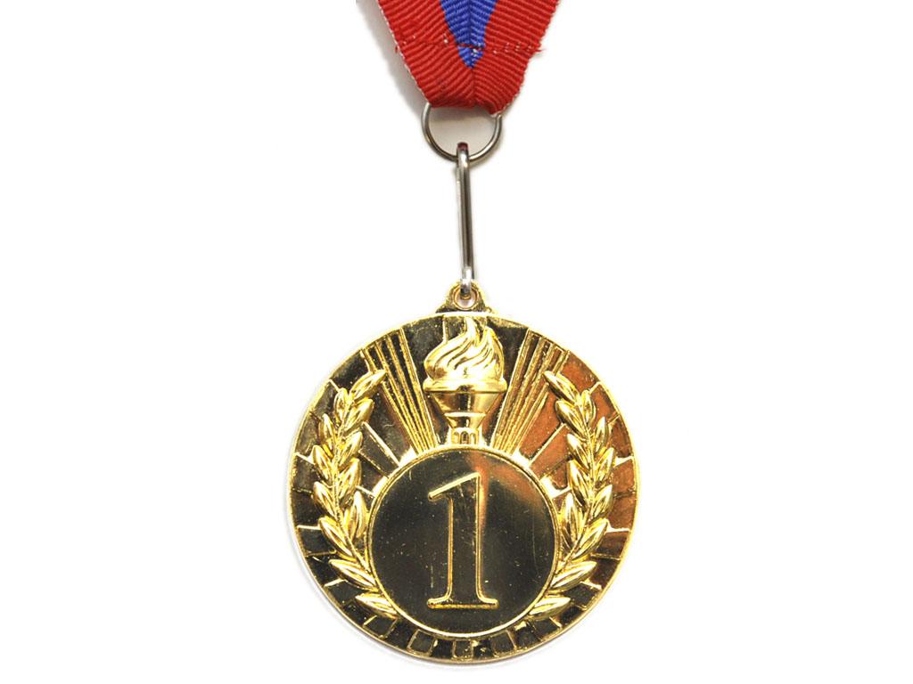 """SPRINTER Медаль с лентой """"Россия"""" Диаметр 5 см, 1702-1: золото - 1"""
