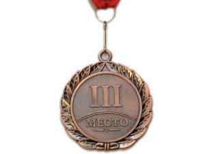 SPRINTER Медаль с лентой  диаметр 6,5 см,  E02: серебро - 3