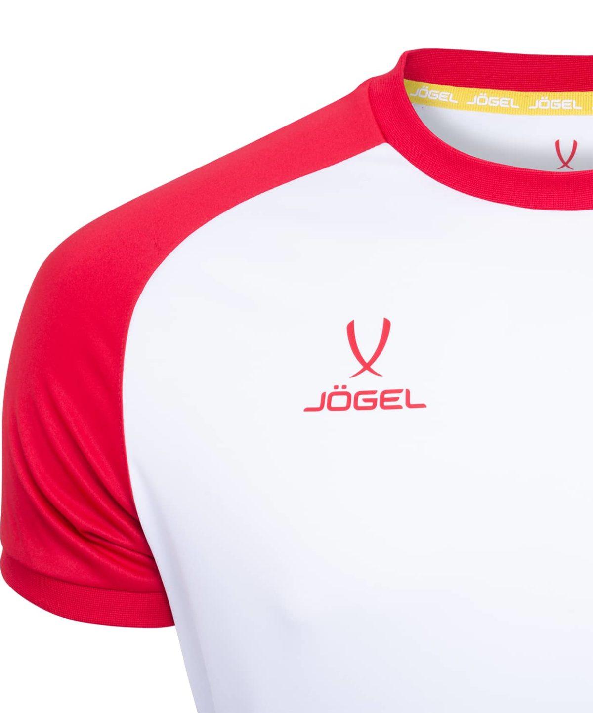 JOGEL CAMP Reglan футболка футбольная детская, белый/красный  JFT-1021-071-K - 3
