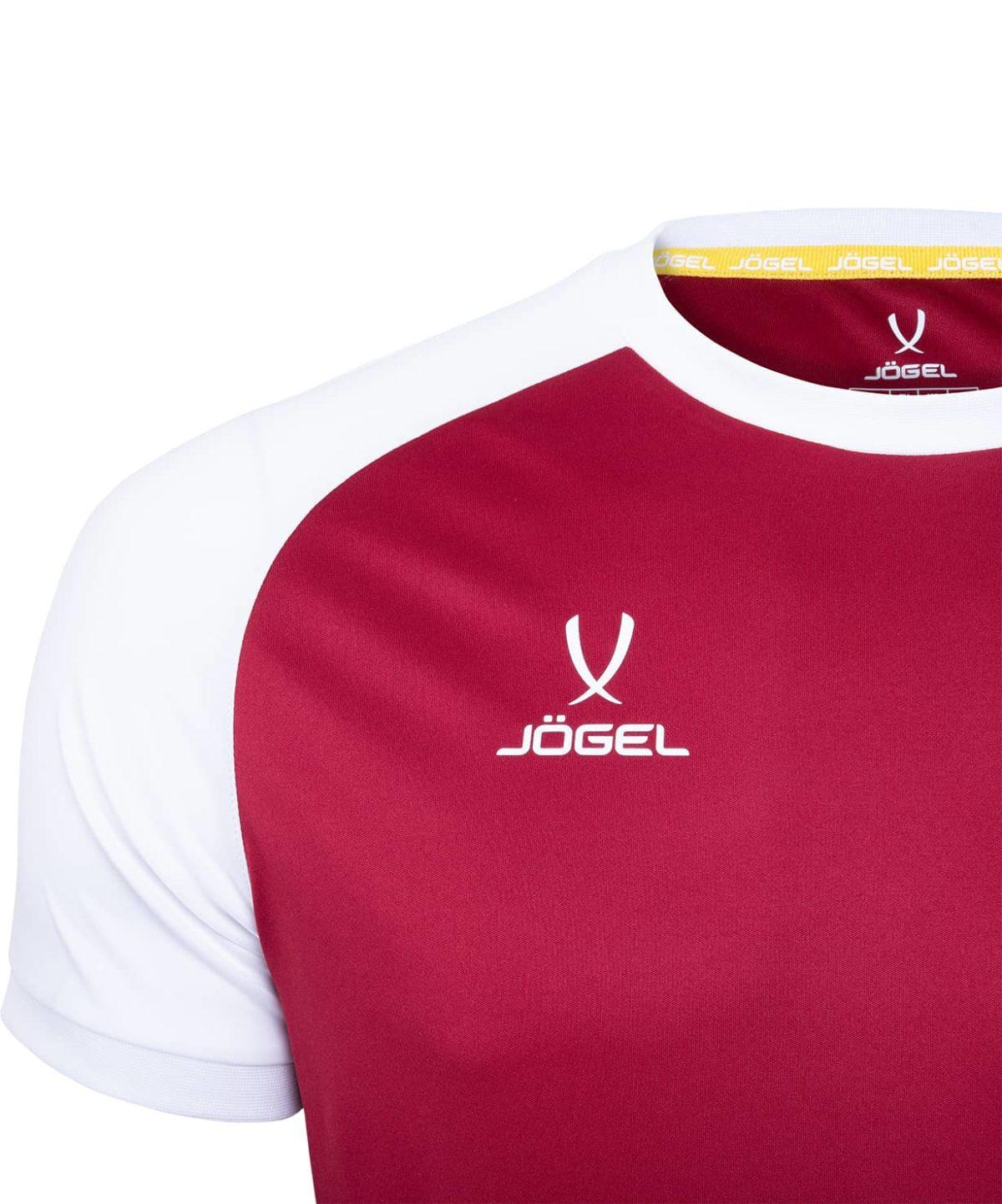 JOGEL CAMP Reglan футболка футбольная детская, гранатовый/белый  JFT-1021-G1-K - 3