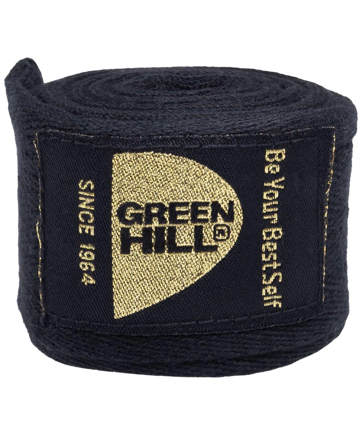 GREEN HILL бинт бокс., х/б 4,5м  BC-6235d: чёрный - 2