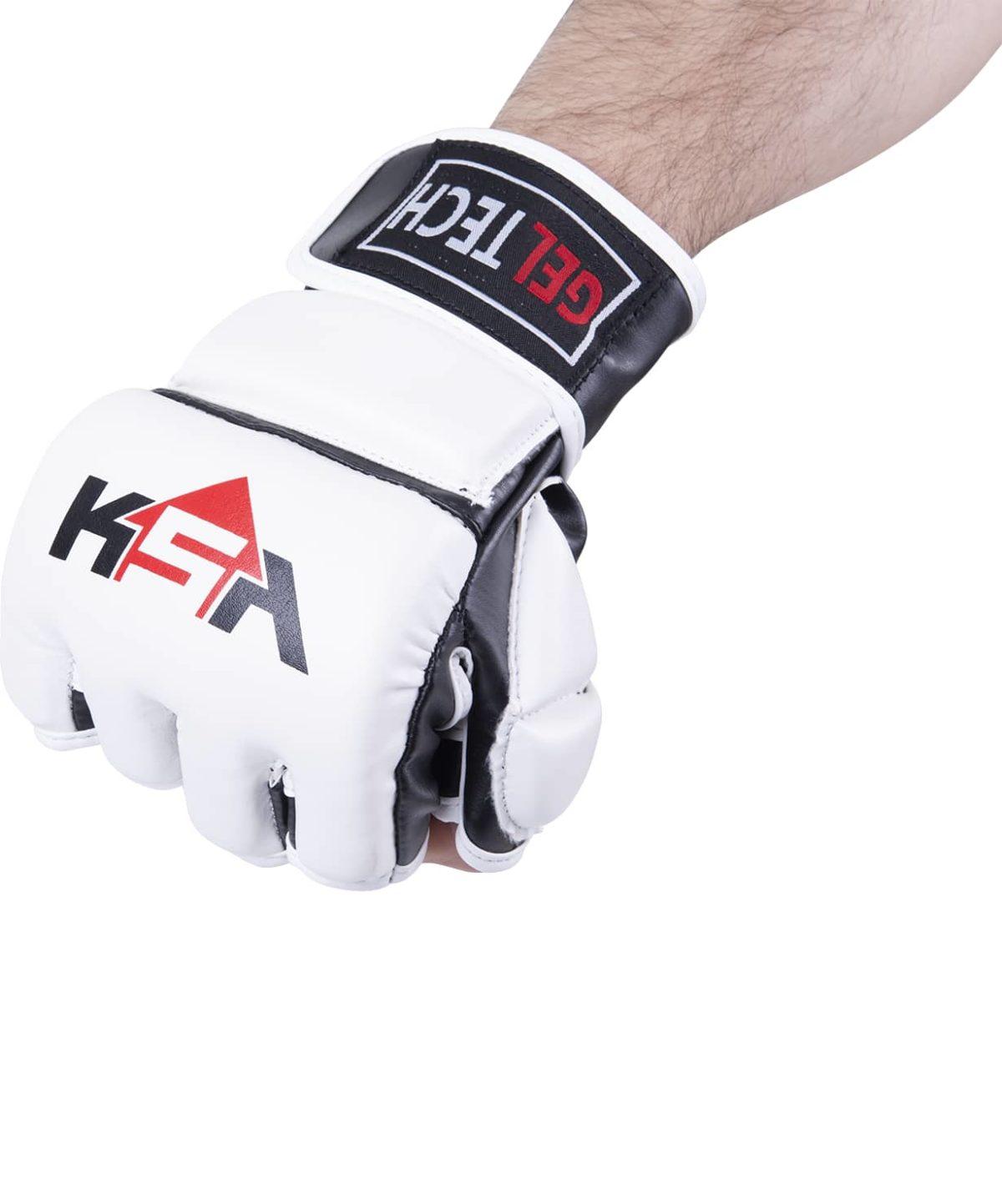 KSA Перчатки для ММА Lion Gel White, к/з  7884 - 2