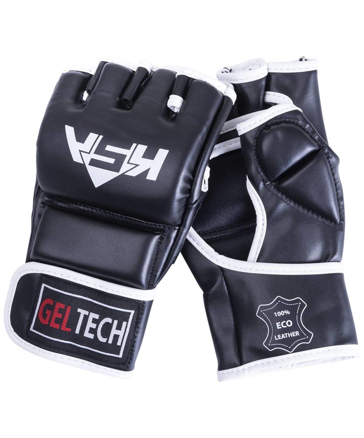 KSA Перчатки для ММА Lion Gel Black,  к/з 7881 - 1