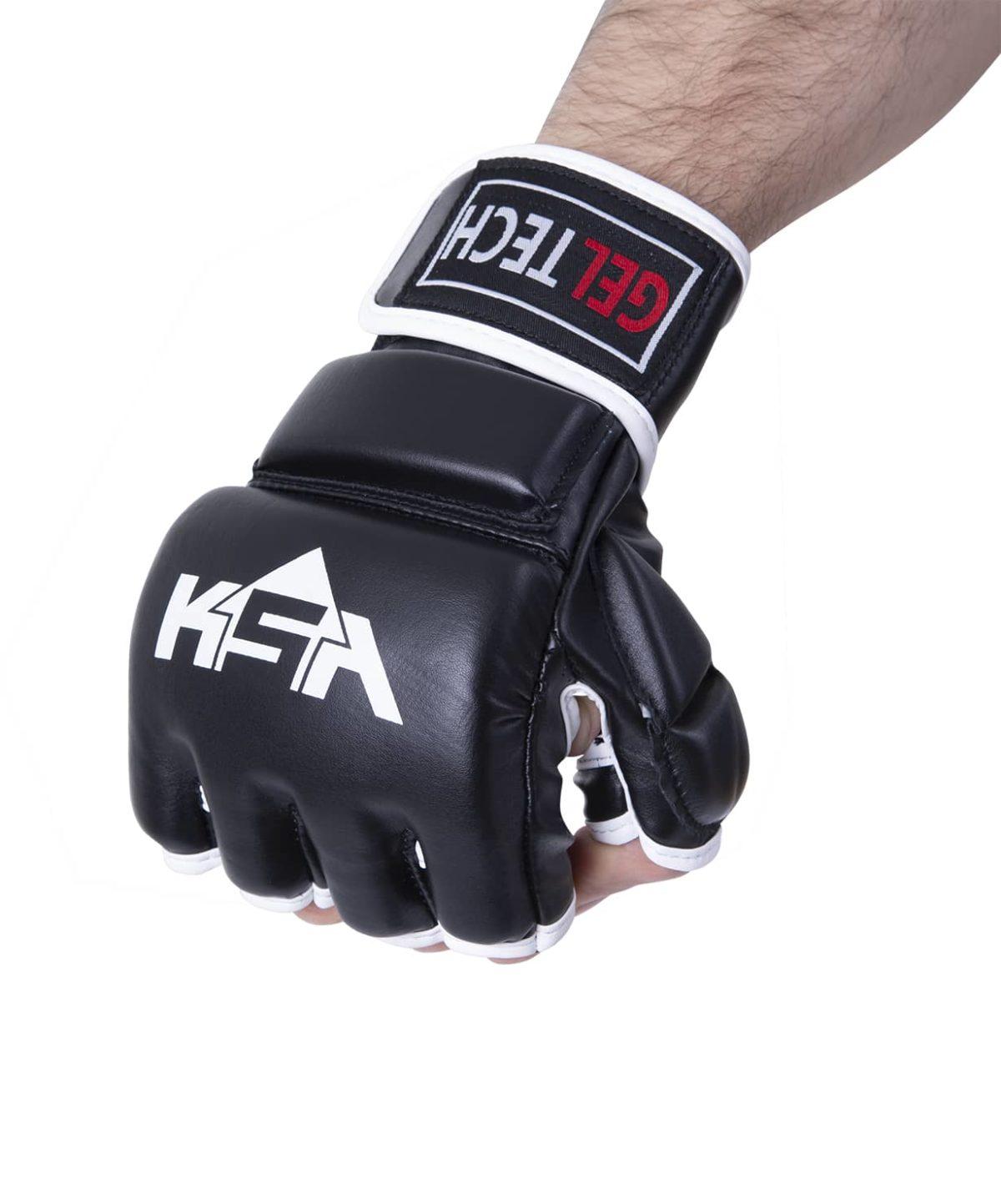 KSA Перчатки для ММА Lion Gel Black,  к/з 7881 - 2