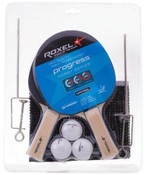 ROXEL Hobby Progress набор д/наст. тен. 2 ракетки, 3 мяча и сетка  15367 - 20