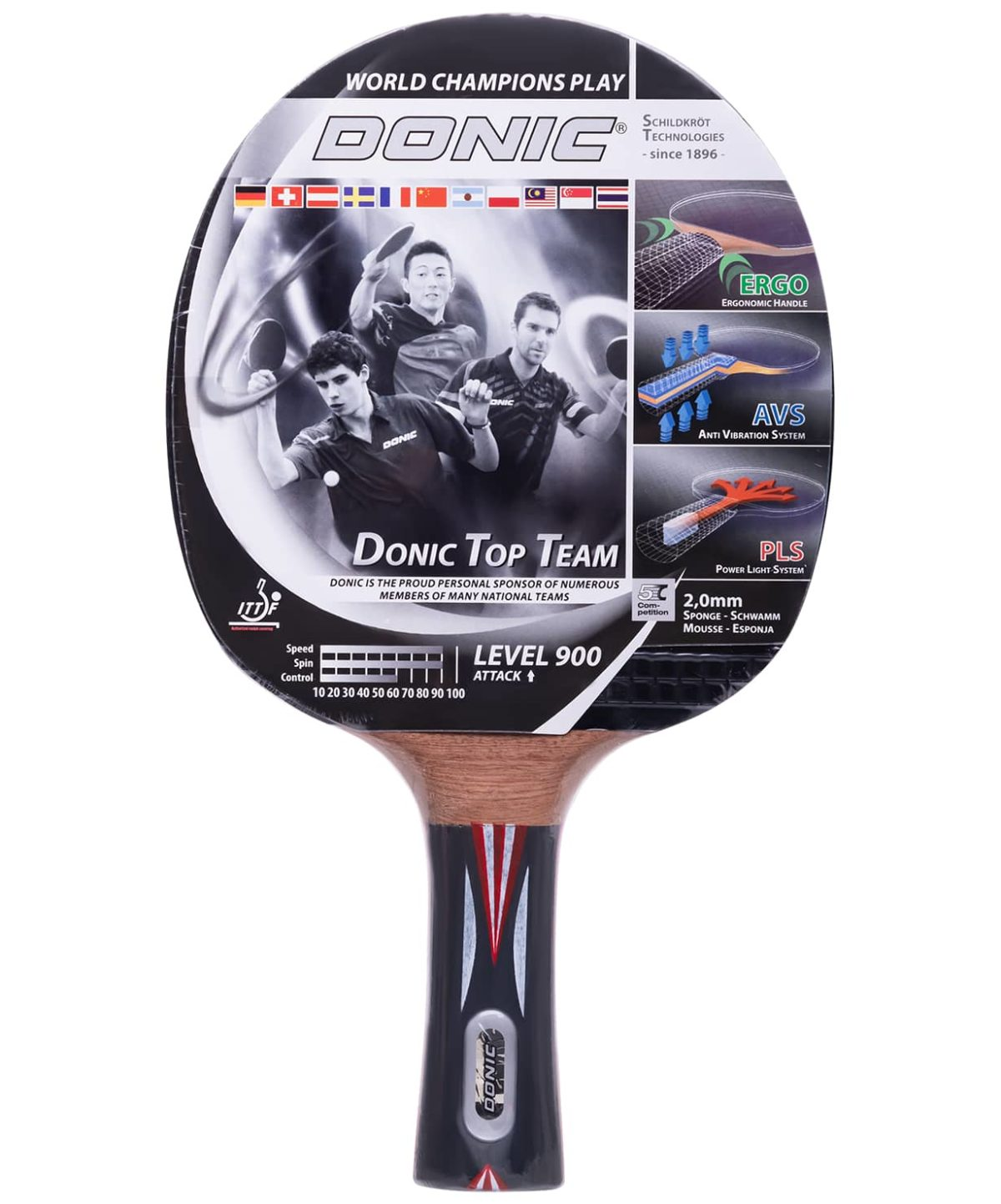 DONIC Top Team 900 ракетка д/наст. тенниса  15337 - 1
