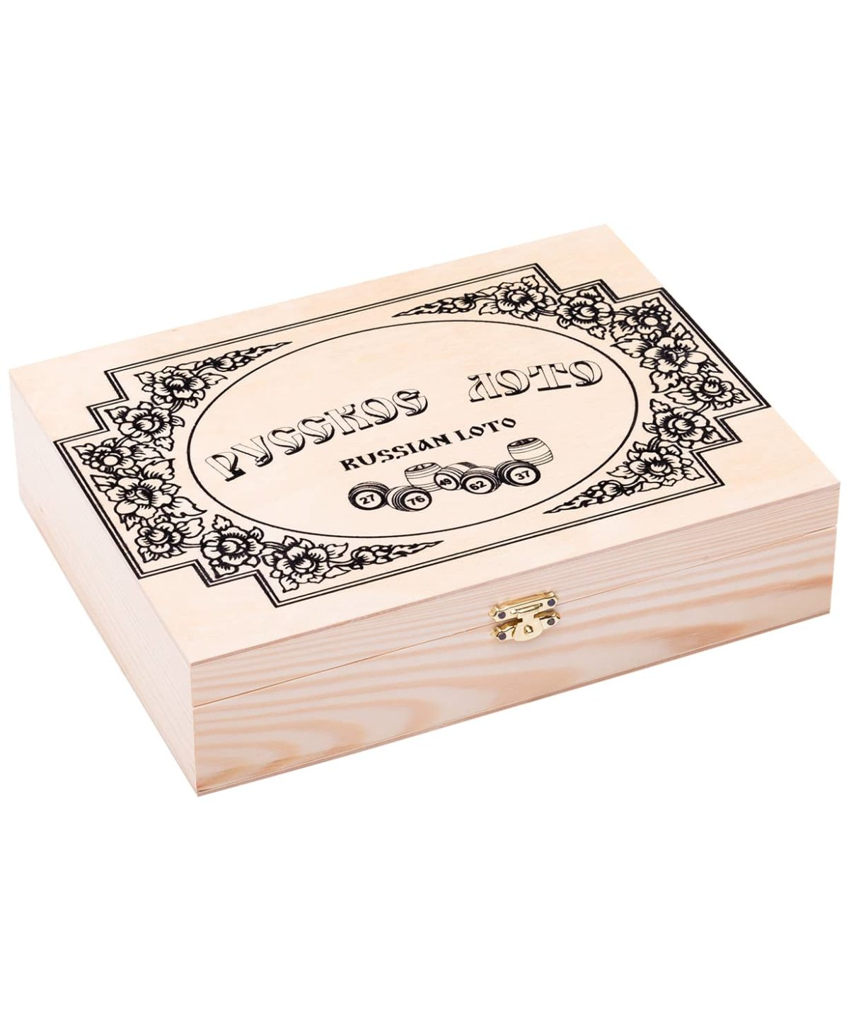 ПРАЙМ СПОРТ Лото бочонок деревянный, деревянная шкатулка  271-18 - 1