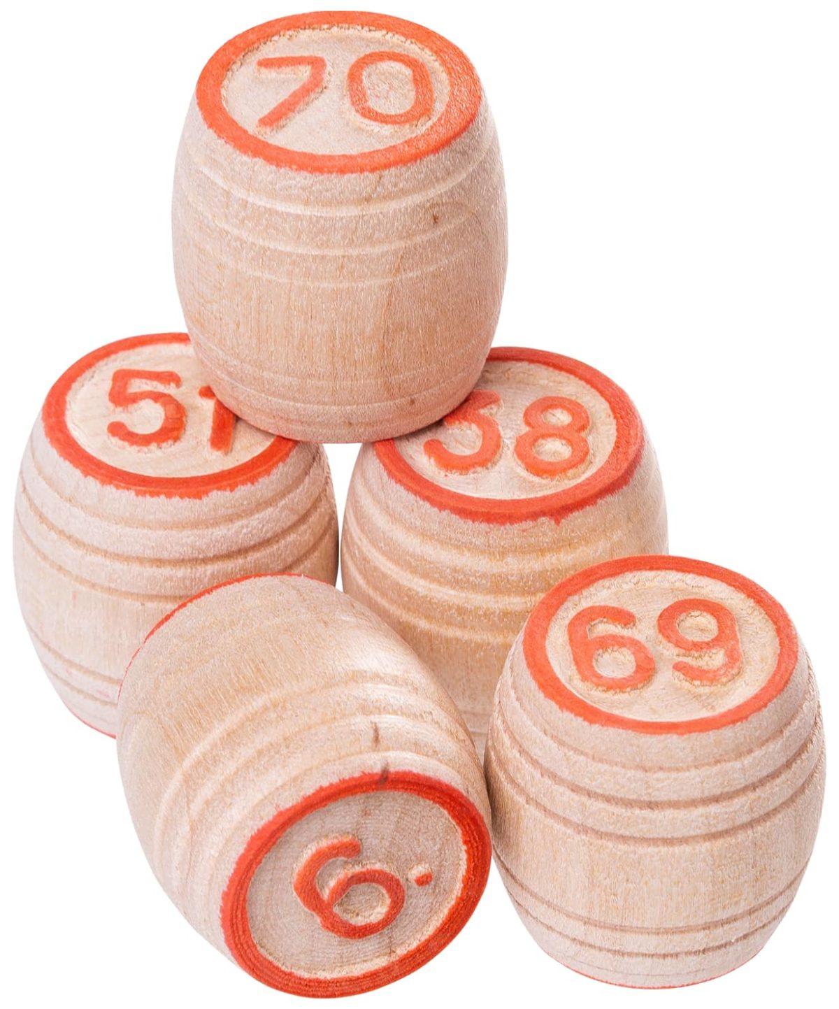 ПРАЙМ СПОРТ Лото бочонок деревянный, деревянная шкатулка  271-18 - 2