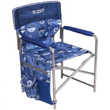 NIKA Кресло складное  КС2: джинс-синий - 1