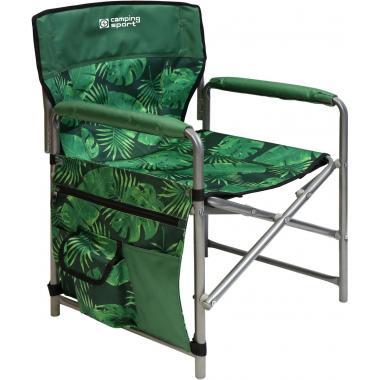NIKA Кресло складное  КС2: тропические листья темный - 1