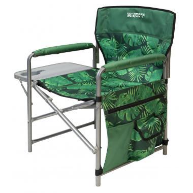 NIKA Кресло складное с полкой  КСП: тропические листья темный - 1