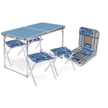 NIKA Набор стол и стулья  ССТ-К2: голубой-джинс - 1