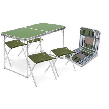 NIKA Набор стол и стулья  ССТ-К2: зелёный-камуфляж - 1