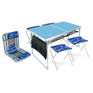 NIKA Набор стол и стулья  ССТ-К3: голубой-джинс - 1
