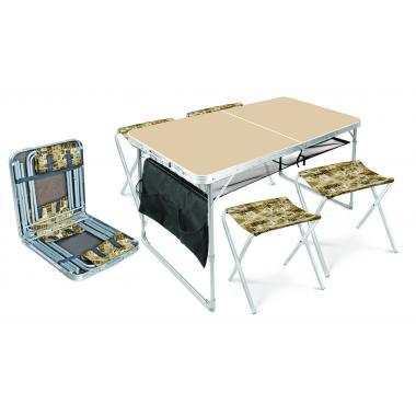 NIKA Набор стол и стулья  ССТ-К3: кофе с молоком-сафари - 1