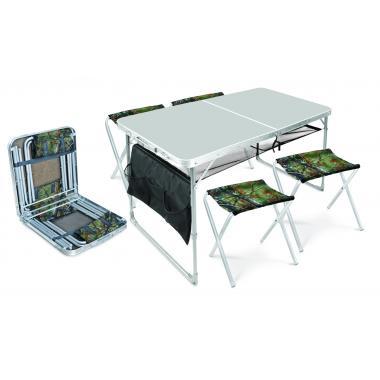 NIKA Набор стол и стулья  ССТ-К3: металлик-хант - 1