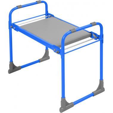 NIKA Скамейка садовая с мягким сиденьем  СКМ: голубой - 1