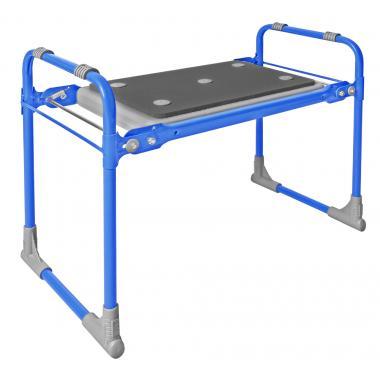 NIKA Скамейка садовая с мягким сиденьем  СКМ2: голубой - 1