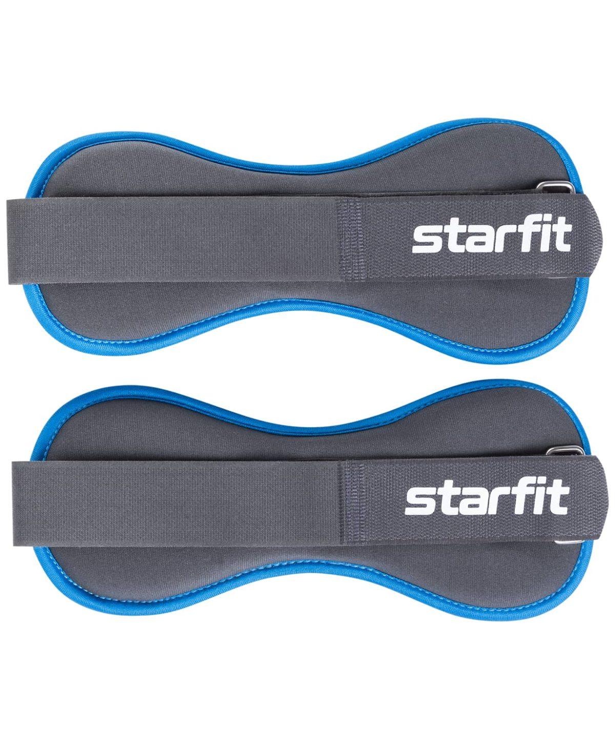 STARFIT Утяжелители универсальные, 1,5 кг WT-501: чёрный/синий - 1