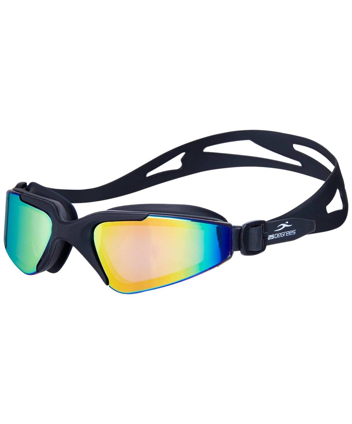 25DEGREES Prisma Mirrored Black Очки для плавания подростковые  17341 - 1