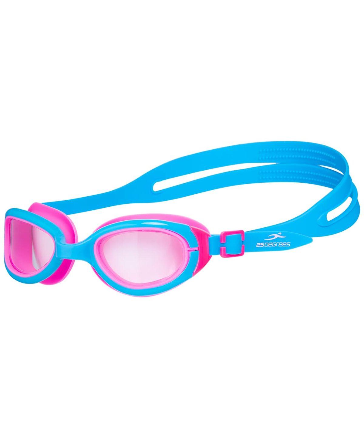 25DEGREES Friggo Light Blue/Pink Очки для плавания подростковые  17340 - 1