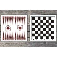 ЕВРОСПОРТ Доска картонная двухсторонняя шахматы/шашки/нарды  ДК-шн - 1