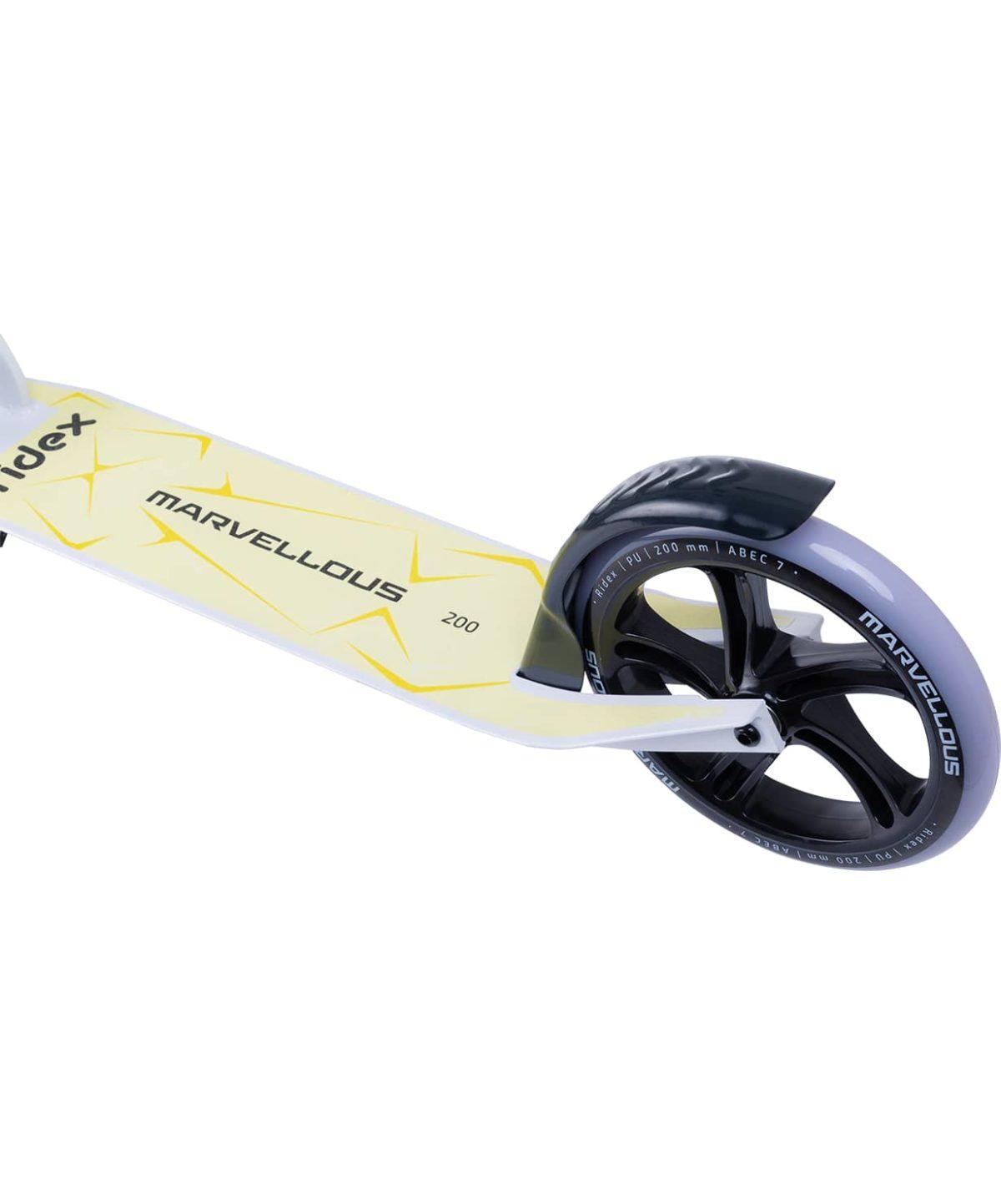 RIDEX Marvellous Самокат 2-х колес. 200 мм  Marvellous: белый/жёлтый - 3