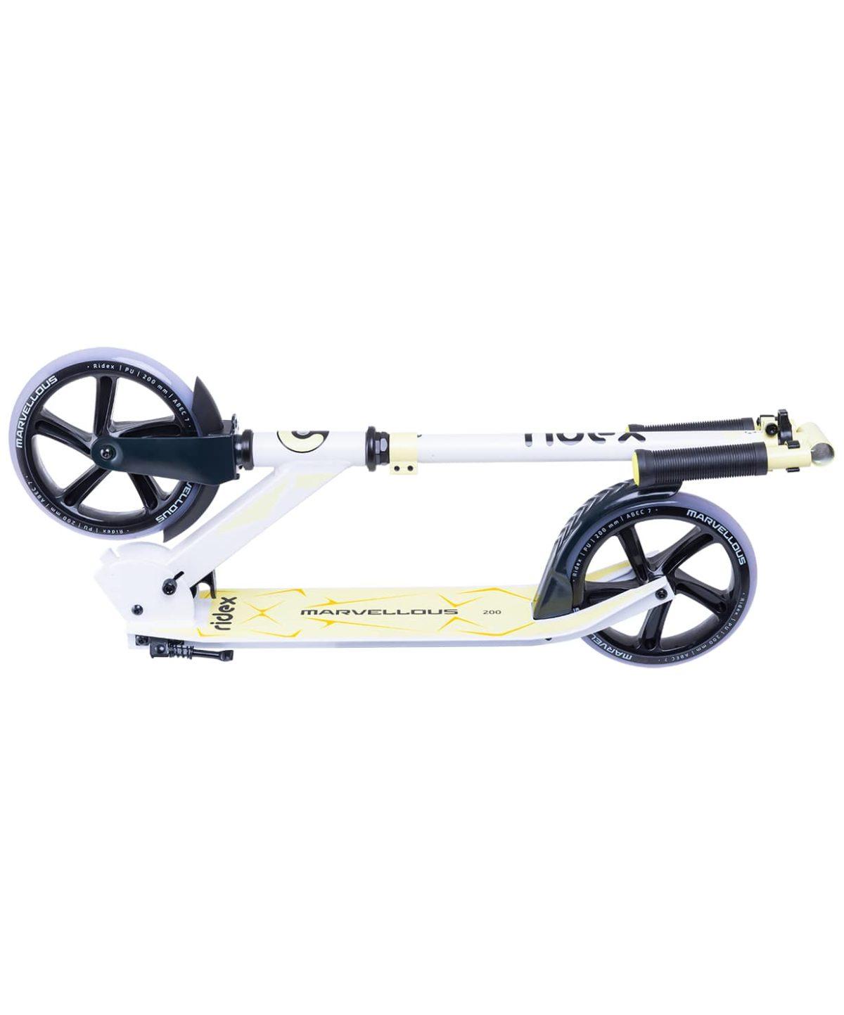 RIDEX Marvellous Самокат 2-х колес. 200 мм  Marvellous: белый/жёлтый - 5
