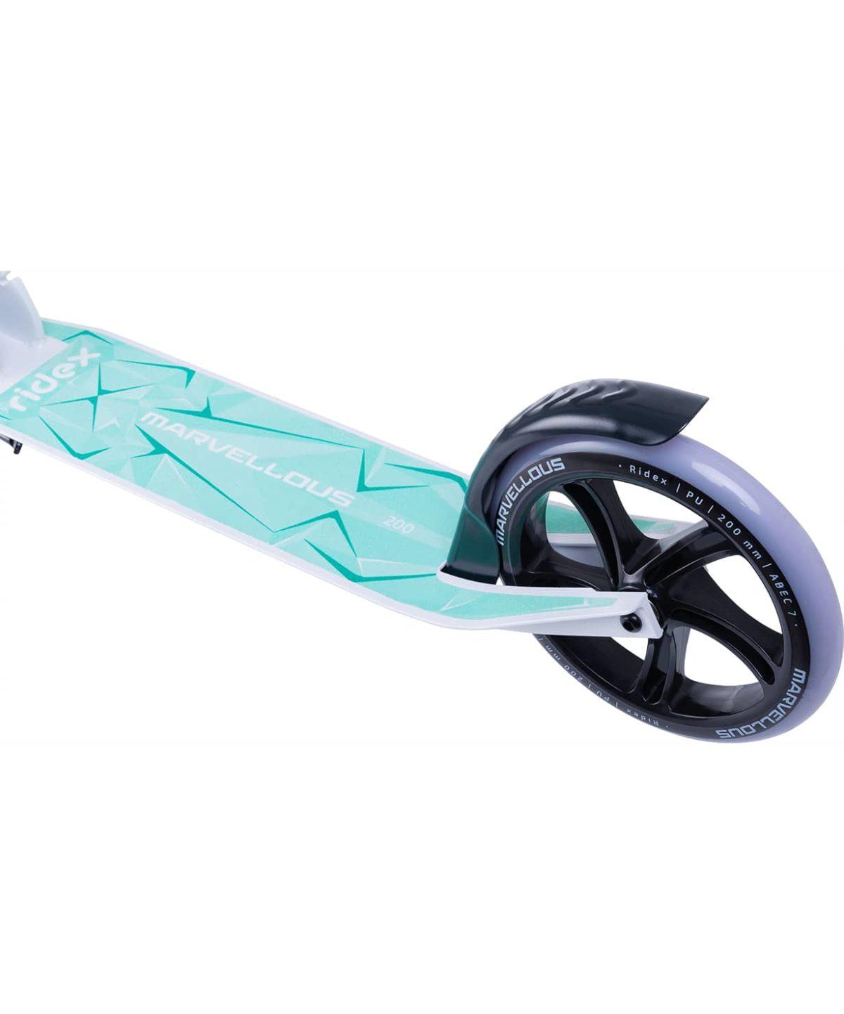 RIDEX Marvellous Самокат 2-х колес. 200 мм  Marvellous: белый/мятный - 6