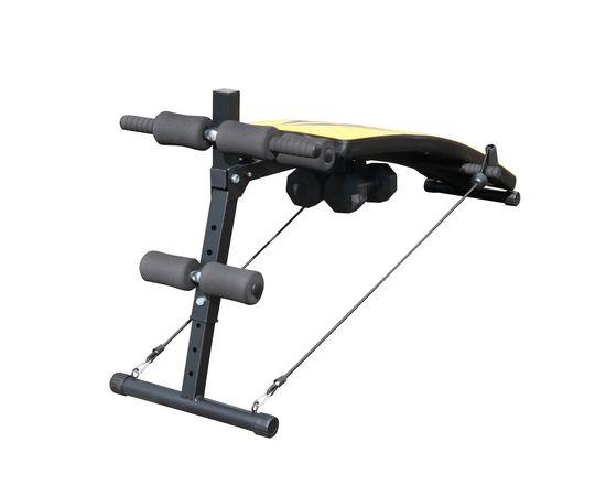 DFC Cкамья для пресса с гантелями и эспандерами  D102RY - 3