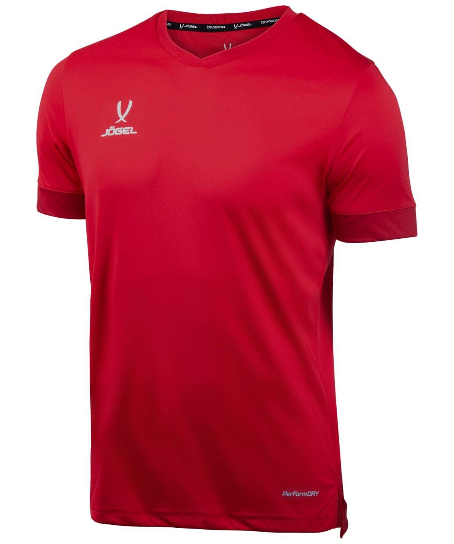 JOGEL DIVISION футболка футбольная детская  Union Jersey: т.красный/белый - 1
