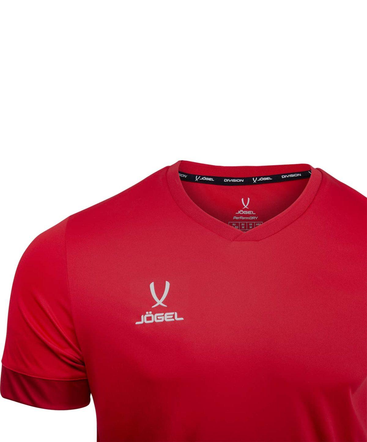 JOGEL DIVISION футболка футбольная детская  Union Jersey: т.красный/белый - 3